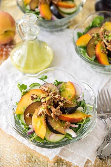 Arugula Stone Fruit Salad Greens 24/7 Vegan Recipes