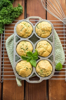 Kale Corn Muffins Greens 24/7 Vegan Recipes