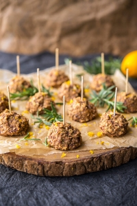Lemon Rosemary Meatballs Happy Herbivore Holidays and Gatherings