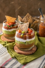 Mini 7-layer Dip Happy Herbivore Holidays and Gatherings