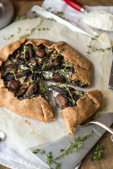 Mushroom Galette Greens 24/7 Vegan Recipes