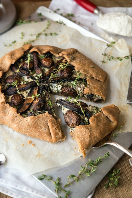 Mushroom Galette Greens 24/7 Vegan Recipes