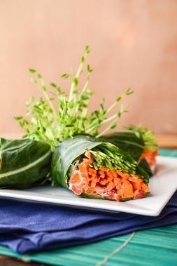 Raw Collard Wraps Greens 24/7 Vegan Recipes