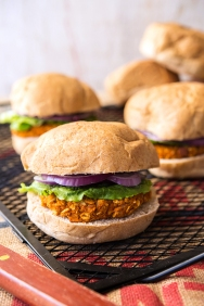 Smoky Sweet Potato Burger Happy Herbivore Holidays and Gatherings