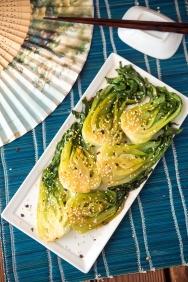 Spicy Bok Choy Greens 24/7 Vegan Recipes