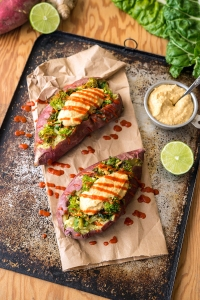 Stuffed Sweet Potato Greens 24/7 Vegan Recipes