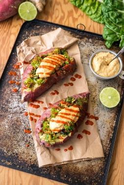 Stuffed Sweet Potato Greens 24/7 Vegan Recipes