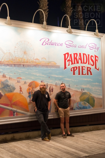 Corey and Mark at Paradise Pier
