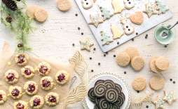Holiday Cookie Spread (without text) for November/December 2015 Issue of VegNews Magazine