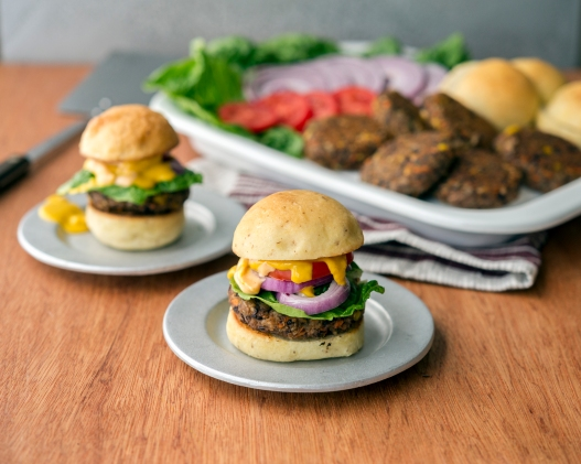 Black Bean Burgers from Eaternity by Jason Wrobel // Photo by Jackie Sobon