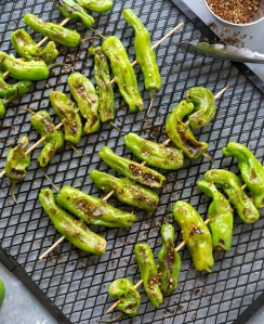Grilled Shishito Peppers with Pepper Shake from Eaternity by Jason Wrobel // Photo by Jackie Sobon