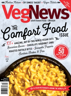 VegNews Fall 2017 Mac and Cheese Cover